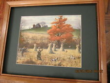 pheasant shooting print by A.Lassel Ripley wood framed collectible art