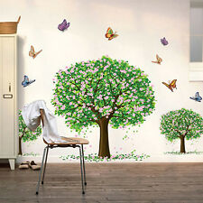 3 Butterfly Blossom Tree Wall Sticker Removable Decals Kids Nursery Room Decor