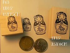 P63   Small and larger babooshka rubber stamps