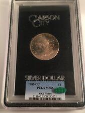 1882-CC Morgan Dollar CAC Toned GSA PCGS MS-65 Carson City