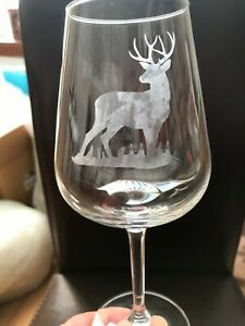 Personalised Glass Stag Stemmed/Stemless **CHECK INFORMATION**