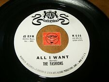 THE FASHIONS - ALL I WANT - DEAREST ONE  / LISTEN - SOUL GIRL GROUP POPCORN