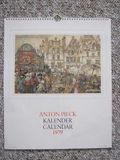1979 Kalendar / Calendar - Anton Pieck - Holland / Netherlands - Excellent