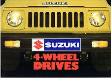 Suzuki SJ 410 1982 UK Market Foldout Sales Brochure Q Soft Top V Hard Top