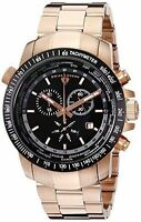 SWISS LEGEND 10013-RG-11-BB WORLD TIMER ROSE GOLD-TONE BLACK DIAL HARD TO FIND!