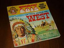 ALBUM FIGURINE LA VERA STORIA DEL WEST Ed. EDIS 1969 QUASI COMPLETO - BUONO ++ !