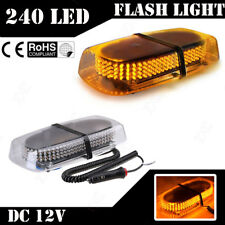 240 LED Amber Strobe Light Warning Emergency Flashing Car Truck Vehicle Safety