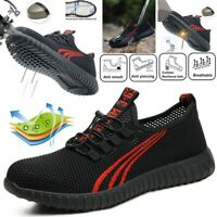 MENS WOMENS ULTRA LIGHTWEIGHT STEEL TOE CAP WORK SAFETY SHOES TRAINERS BOOTS TOP
