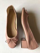 TOPSHOP Ladies Ballerina Court Shoes Low Heel Pale Pink Patent Sz 5 WORN ONCE!