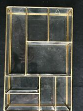VINTAGE MINIATURE GLASS DISPLAY CASE STAND 15 X 23 X 5.5 CM