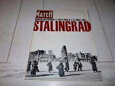 PARIS-MATCH 1965 STALINGRAD RUSSIE GUERRE 39/45 TCHOUIKOV BATAILLE KOURSK