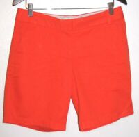 J. Crew Women's Broken-In Cotton Chino Orange Mid-Length Shorts Size 8