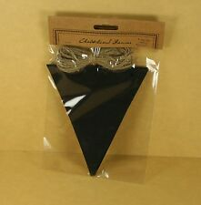 1 Package of Chalkboard Banner 12 piece triangles with Jute Rope 5 Yards long