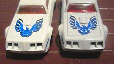 2 Matchbox Superfast White Pontiac Firebird 1979 #16 VARIATIONS NO PLAY Nr MINT
