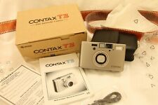 Contax  T3 , chrome, MINT boxed.. tested  with film!