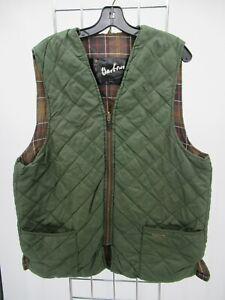K0350 VTG Men's Barbour Classic Zip-In Vest Liner Size C44/112cm