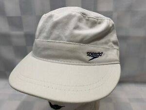 USA SPEEDO White Blue Embroidered Adjustable Women's Adult Cap Hat