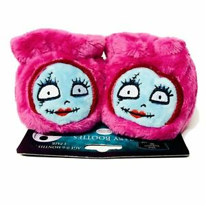 Disney The Nightmare Before Christmas Sally Baby Booties Shoes Plush 0-6 Months