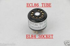1Pc Gold plated ECL86 6GW8(adapter top) to EL84 6P14 6BQ5tube converter adapter
