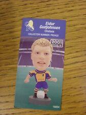 2000/2001 Corinthian Pro-Stars Card: Chelsea - Gudjohnsen, Eidur (PRO422) Away K