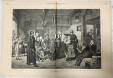 Four pages from Harper's Weekly, pp. 1079-1082. Double page picture and text