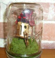 LOG CABIN HOUSE in MASON JAR ~ DIORAMA ~ OOAK - PITTSBURGH ARTIST ~ ART
