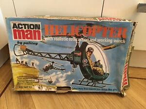 Vintage Action Man Helicopter Original Box
