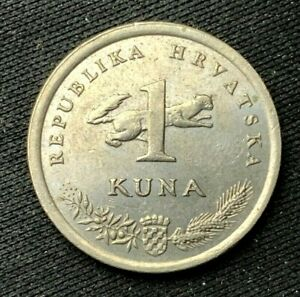 1997 Croatia 1 Kuna AU Coin    Copper Nickel  World Coin   #K1334