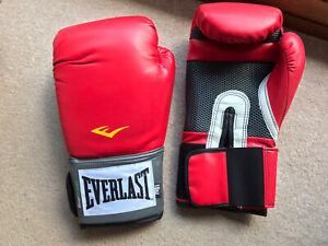 everlast boxing gloves 10oz training red