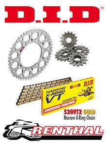 Renthal / DID Chain & Sprocket Kit to fit Husqvarna TE 449 2012-2013