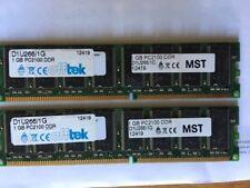 2GB (2 X 1GB) DDR 266 MHZ PC 2100 Desktop PC DIMM Memory RAM 2.5V