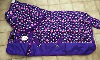 """600D PURPLE STAR MEDIUM WEIGHT  220gm with neck Turnout Rug 4'9"""" to 7'0"""""""