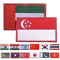 8*5CM National Embroidered Flag Iron On Patch Standard Patch Emblem Applique