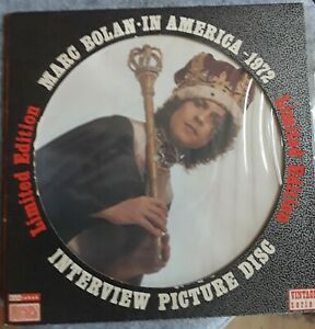"""Marc Bolan / T.Rex - IN AMERICA 1972 . Ltd Ed UK 10"""" Interview Picture Disc"""
