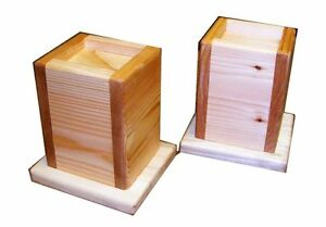 Wood Bed Lifters 5-Inch Lift Height for 3.5 Inch Bed Post Made in USA Set of Two