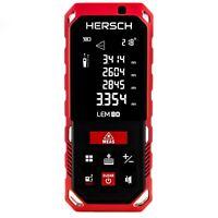 HERSCH Laser Entfernungsmesser LEM 80 mit Neigungssensor,Ni-Mh 800 mAh Akku,IP65