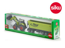 Siku 1949 Claas Axion 850 with Loader & Fliegl Tipping Trailer & 5th Wheel Dolly