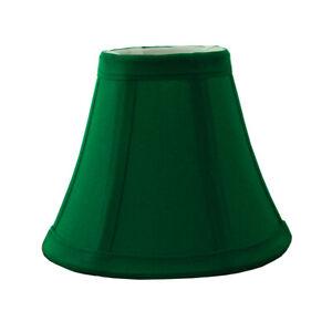 "Emerald Green Bell Candelabra Clip On Fabric Lamp Shade - 3"" x 6"" x 5"""