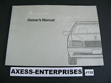 92 - 1992 Mercedes W140 300 SD 300SD Diesel Owners Manual Drivers Book # J132