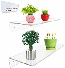 2 Pack of Clear Acrylic Floating Shelf Wall Mounted Display Organizer (12×6