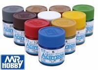 (Sale) Gunze Mr.Hobby Aqueous Color Acrylic Paint N1-N127 For Model Kit (10ml)