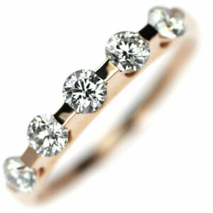 K18PG H&C Diamond Ring D0.596ct - Auth SELBY_JAPAN