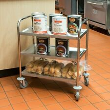 "28"" x 16"" x 32"" 18 Gauge Stainless Steel 3 Shelf Utility Kitchen Restaurant Cart"