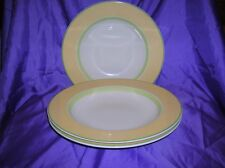 """Villeroy and Boch Twist Colour 3 x Soup Plates/Bowls Yellow and Green 9"""""""