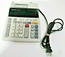 Sharp EL-1801Piii Printing Calculator Electronic White Model # EL-1801Piii EUC
