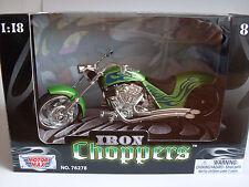 Iron Choppers Green (1) Custom Chopper MOTORMAX Motorcycle Model 1 18