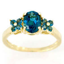Yellow Gold Natural Topaz Engagement Fine Rings