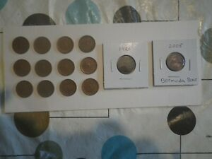 1926 CANADIAN SMALL CENT & 12 ,1867 / 1967 ANNIVERSARY PENNIES & MORE. 14 COINS