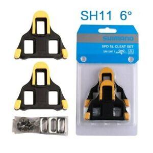 Shimano SPD-SL SM-SH11 Yellow Road Pedal Cleats Dura-Ace Ultegra Genuine