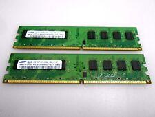 KIT RAM 4GB (2 X 2GB) DDR2 PC2-6400 800MHz 800 SAMSUNG MEMORIA PC2-6400U 240PIN